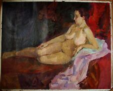 Russian Ukrainian Oil Painting Impressionism female Portrait nude Woman realism