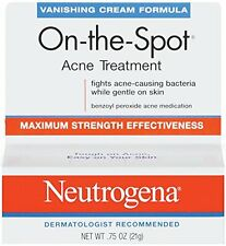 2 Pack Neutrogena Vanishing Cream On-The-Spot Acne Treatment Max Strength .75oz