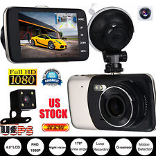 HD 1080P Car Dual Lens Camera DVR Vehicle Video Recorder Rear Dash Cam G-sensor