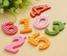 Trendy 10 Numbers Wooden Fridge Magnet Child Educational Toy Baby Kids Learning