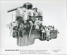 Mercedes Benz 190D Engine Original Press Photograph 1958 82507