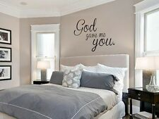 GOD GAVE ME YOU Wall Art Decal Quote Words Lettering Decor Sticker 24""