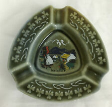 Irish Countryside Green Decorative Ashtray Green Clovers Made in Ireland 4 Inch