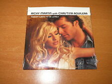 RICKY MARTIN / CHRISTINA AGUILERA Nobody Wants To Be Lonely PROMO CD SINGLE NEW