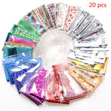 Lots 20PCS Foils Finger Nail Art Sticker Decal DIY Transfer Stickers Tips Decor