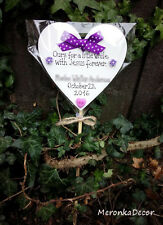 With Jesus forever-Memorial heart Purple-Baby-Child Grave Ornament-Personalised