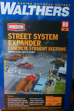 Walthers HO #933-3155 Street System Expander-- Straight Sections Only w/Sidewal