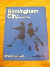 21/09/1968 Birmingham City v Aston Villa (Pliegue Luz, pequeña marca de desgaste Trus).