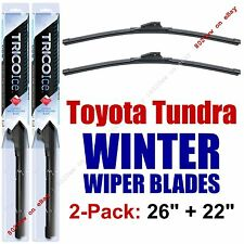 WINTER Wipers 2pk Premium Beam Snow Ice fit 2007-2016 Toyota Tundra - 35260/220