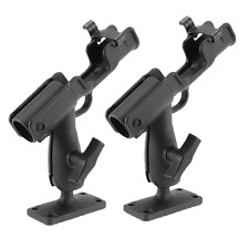 2x Adjustable Side Rail Mount Kayak Boat Fishing Pole Rod Holder Tackle Kit