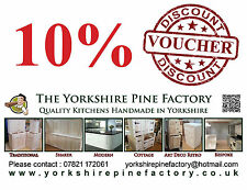 10% Discount voucher coupon handmade belfast sink Solid Pine base kitchen unit