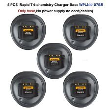 5x Rapid Charger Base For Motorola GP344 GP340 GP328 GP360 EX500 Portable Radio