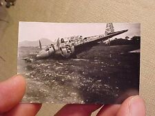 ORIGINAL WWII PHOTO OF CRASHED JAPANESE AIRCRAFT WITH CAMO PATTERN