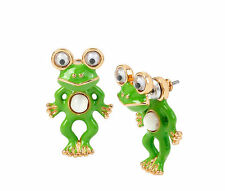 Betsey Johnson Betsey's Minis Frog Front Back Earrings NWT $35