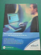 11/2000 PUB INMARSAT IN-FLIGHT COMMUNICATIONS BUSINESS TRAVELLERS INTERNET AD