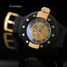Automatic Invicta S1 Rally Black 18k Gold Plated Skeleton Dial 52mm Men's Watch
