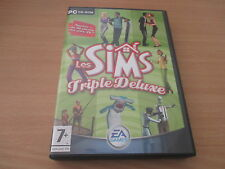 pc cd-rom les sims triple deluxe