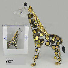 Glass animal  GIRAFFE figurine, gold highlights    8827