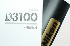 Genuine NIKON D3100 FOTOCAMERA DIGITALE REFLEX ORIGINALE User Guide / MANUALE-Korean Ver.