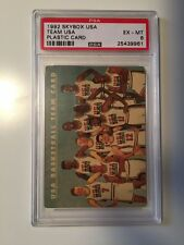 1992 Skybox USA Dream Team Plastic Card Near Mint 6 PSA