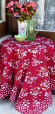 """French  100% COTTON TABLECLOTH PRIMAVERA RED 60""""X 60""""  - Provence - France -"""