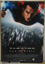 MAN OF STEEL DS ROLLED ADV ORIG 1SH MOVIE POSTER HENRY CAVILL SUPERMAN (2013)
