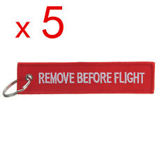 5X Remove Before Flight Portachiavi Tela Key Chain kengring Bagagli Tag Chiave
