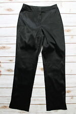 "GRIFFITH GRAY For ST. JOHN Sz 4 Black Satin Dress Pants 28"" Inseam PS1-9"