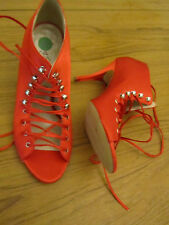 "Red Satin Miss Sixty 3.75"" High Stiletto Shoes in Size 6.5 UK EUR 40 - BNWOB"