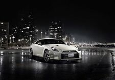 NISSAN - SKYLINE GTR White Super Sports Car Large Wall Art Canvas Pic 20x30""
