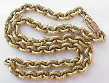 "1900 y. AUTHENTIC ANTIQUE RUSSIAN IMPERIAL GOLD CHAIN NECKLACE STAMP 56"" DIAMONT"