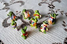 Vnitage 90s kinder surprise crocs petit jouet crocodiles figurines x 8