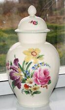 Fürstenberg Deckelvase Vase Deckel Blumenmalerei 33 cm handgemalt Amphorenvase