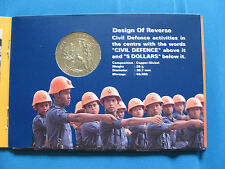 Singapore 1991 $5 Silver/CN Coin Set -Civil Defence