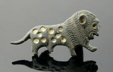 Roman Bronze smaltato Lion SPILLA (j347)