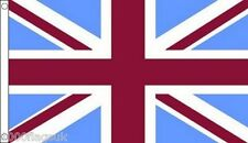 Union Jack Claret and Sky Blue Aston Villa, West ham United, Burnley 5'x3' Flag