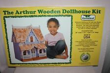 "NEW - The Arthur Wooden Dollhouse Kit - greenleaf Victorian House - 1"" Scale"