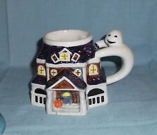 vase planter coffee cup Halloween house ghost porcelain large handle