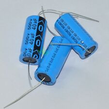 50x 500V 40uf 85C long leads Axial Electrolytic Polarized Capacitors fr tube amp