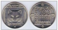 HUNGARY 100 FORINT 1985 KM # 646 WILD CAT COPPER NICKEL COIN