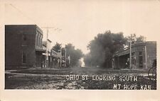 Real Photo Postcard Ohio Street, looking south in Mt. Hope, Kansas~111630