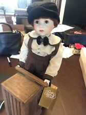 Franklin Mint Heirloom - Danny - Porcelain Doll with Coca Cola Scooter and tag
