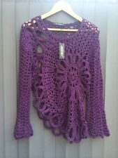 Bang On Trend Purple Knitted Shaped Jumper Boho Hippy Last One In Stock ��