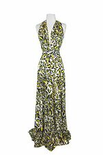 VON VONNI Women's Yellow Animal Transformer Dress Long One Size VVL101 $120