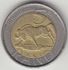 South Africa Five ( 5 ) Rand Bimetallic Coin - Wildebeest - Various Years