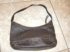 """THE SAK""Brown Leather Zipper Closure Hobo Shoulder Bag Purse11""LX8""HX3""D CUTE!"