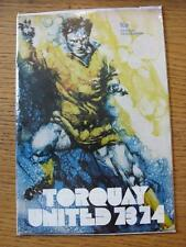 29/08/1973 Torquay United v Plymouth Argyle [Football League Cup] .  Any faults