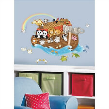 NOAH'S ARK giant wall stickers MURAL 14 wall decals lions tigers turtles monkeys