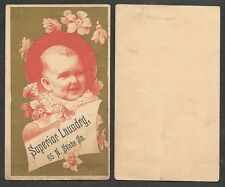 1890's Advertising Trade Card - Superior Laundry - State Street, (Chicago?)