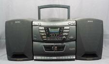 Sony CFD-ZW160 AM/FM Dual Cassette CD Player Detachable Speaker Boombox